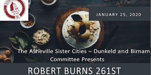 Robert Burns 261st Birthday Celebration Dinner