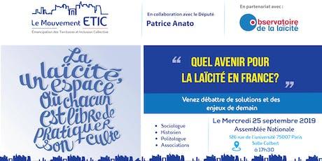 """""""Quel avenir pour la laïcité en France ?"""" - Débat Mouvement ETIC billets"""