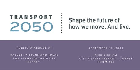 Transport 2050: Youth Public Engagement Session tickets