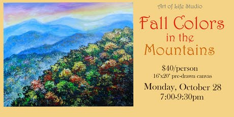 Paint Night: Fall Colors in the Mountains tickets