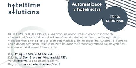 AUTOMATIZACE V HOTELNICTVÍ / AUTOMATION IN HOSPITALITY tickets