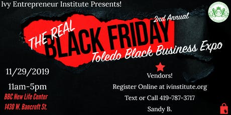 The REAL Black Friday Toledo Black Business Expo!  tickets