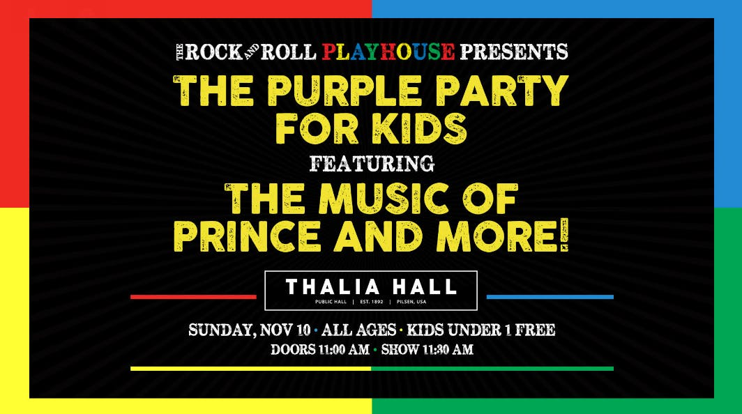 The Rock and Roll Playhouse presents Purple Party for Kids ft. the Music of Prince and More!