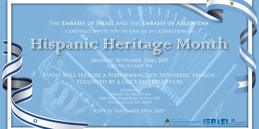 Sepharadic Tango Concert in celebration of the Hispanic