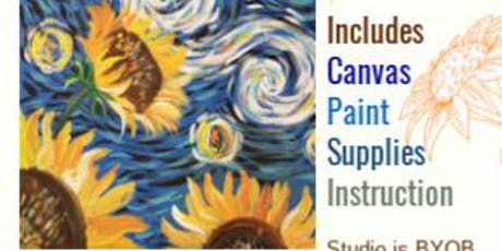 Van Gogh Sunflowers-Wed Sept 25th at 7pm @ The Kreativ Studio  tickets