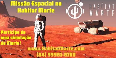 Missão espacial no Habitat Marte ingressos