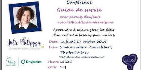 """Conférence """"Guide de survie"""" pour parents d'enfants à besoins particuliers billets"""
