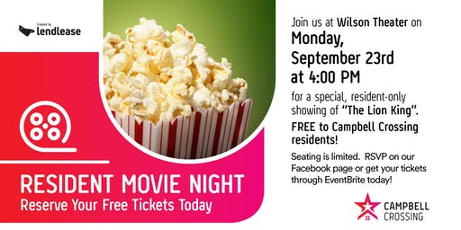Campbell Crossing Resident Movie Night