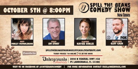 Spill the Beans Stand Up Comedy Show- Cliff Cash (Special Event) tickets