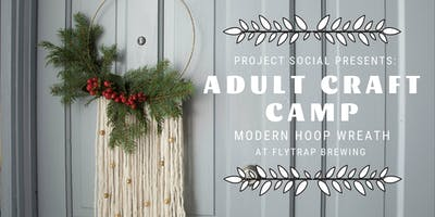 Adult Craft Camp: Modern Hoop Wreath with Fresh Flowers + Greenery