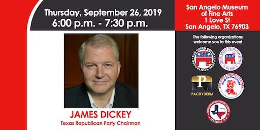 James Dickey - Texas Republican Party Chairman - in San Angelo, TX