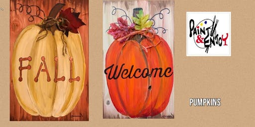 "Paint and Enjoy at Naylor Wine Shoppe ""Welcome/Fall"" on Wood"