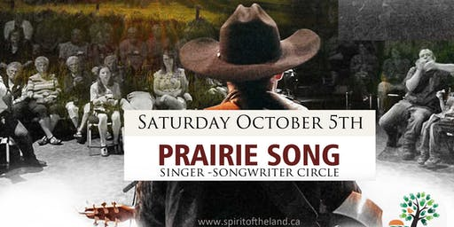"""Prairie Song"" – Songwriter Circle & Fundraiser"