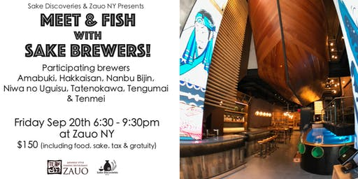 Meet and Fish with Sake Brewers!