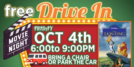 Free Retro Drive In Movie ( The Lion King 1994 ) tickets