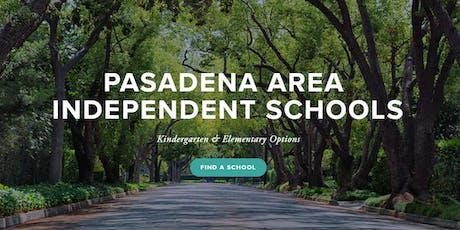 Kindergarten & Elementary Options Night - Pasadena Area Independent Schools tickets