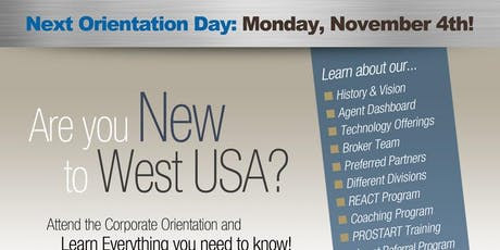 West USA Realty - Corporate Orientation November tickets