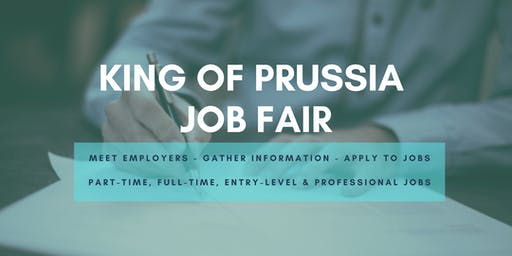 King of Prussia Job Fair - October 10, 2019 Job Fairs & Hiring Events in King of Prussia, PA