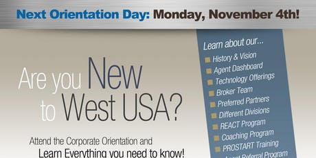 West USA Realty - Chandler Orientation November tickets