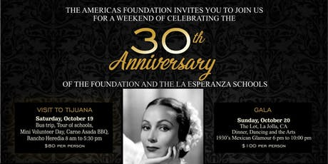 The Americas Foundation 30th Anniversary Gala (Oct 20th) & Tour (Oct 19th) tickets