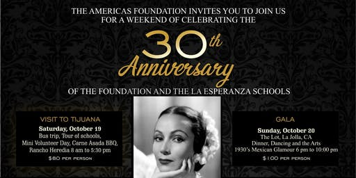 The Americas Foundation 30th Anniversary Gala (Oct 20th) & Tour (Oct 19th)