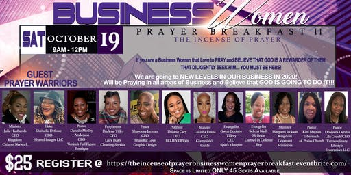 "Business Women Prayer Breakfast 2019 ""THE INCENSE OF PRAYER"""