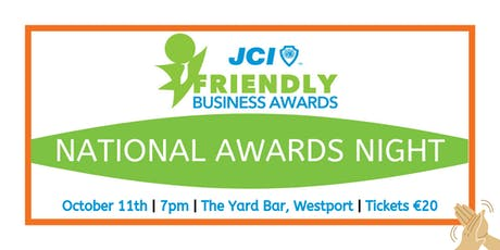 JCI Ireland Friendly Business Awards tickets