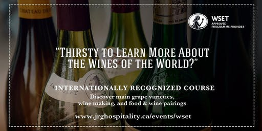 WSET Level 2 Award in Wines at Glass House Estate Winery