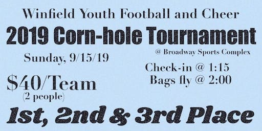 Copy of Winfield Youth Football & Cheer CORN-HOLE Tournament