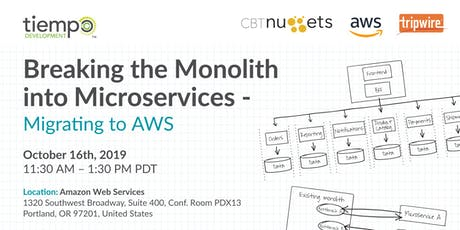 Breaking the Monolith into Microservices - Migrating to AWS tickets
