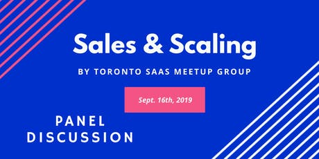 Sales and Scaling: Panel Discussion tickets