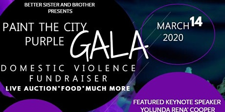 Paint the City Purple Domestic Violence Fundraiser tickets