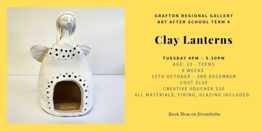 Clay Lanterns: Art After School T4
