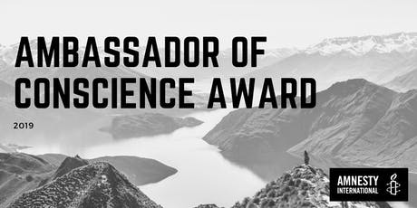 Ambassador of Conscience Award - Auckland tickets