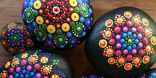 Mandala Rock Painting Class (2 Rocks)
