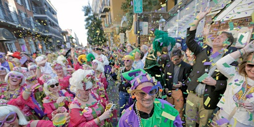 Krewe of Cork Parade: Bourbon Street Balcony Celebration on Valentine's Day