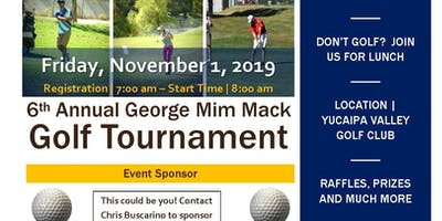 6th Annual George Mim Mack Charity Golf Tournament