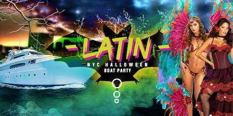 The #1 Halloween Official Latina Boat Partyon Mega Yacht INFINITY: Friday Night Yacht Cruise tickets