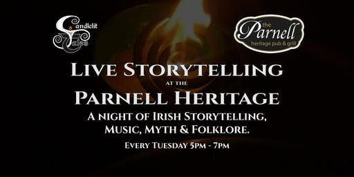 A night of Irish Storytelling, Music, Myth & Folklore.