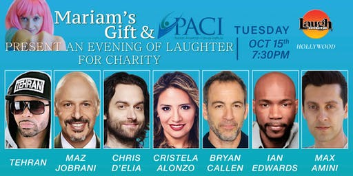 Mariam's Gift & PACI presents an evening of Laughter for charity