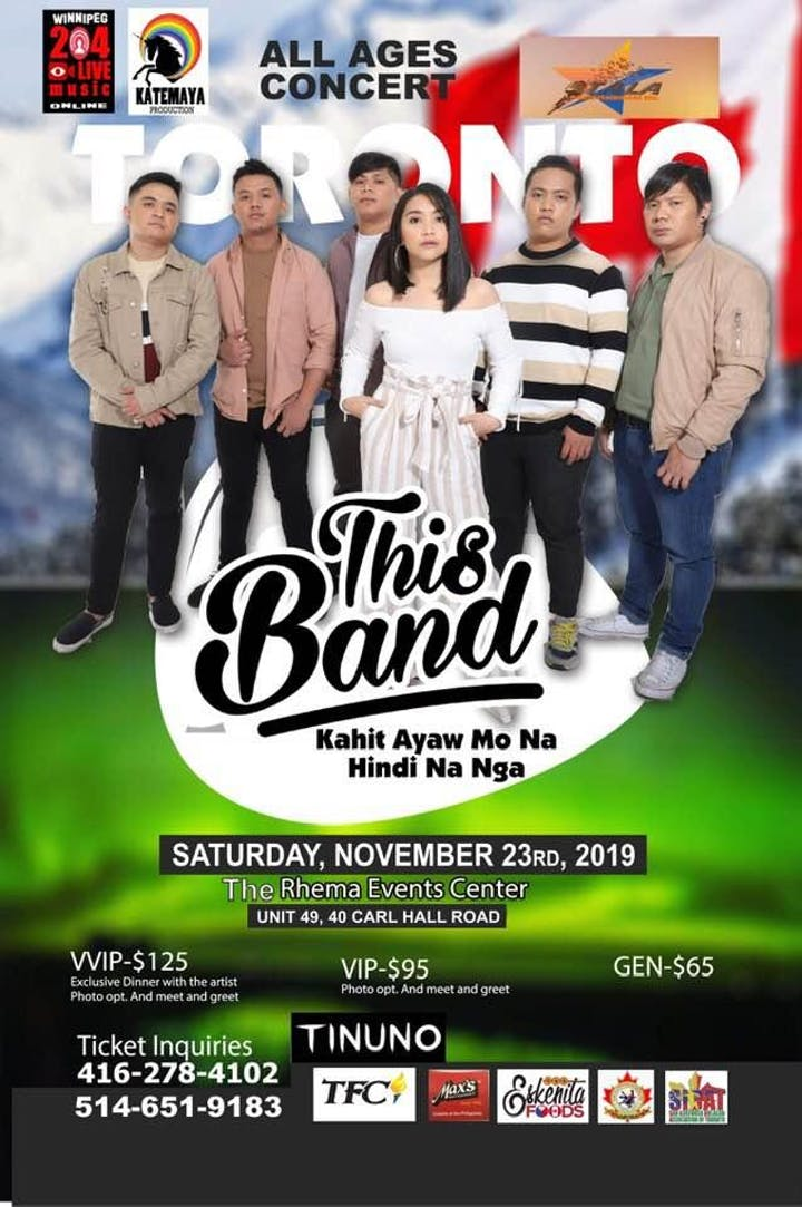 This Band Live in Toronto Tickets, Sat, 23 Nov 2019 at 6:00