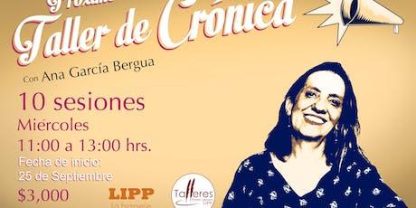 TALLER DE CRÓNICA LITERARIA boletos