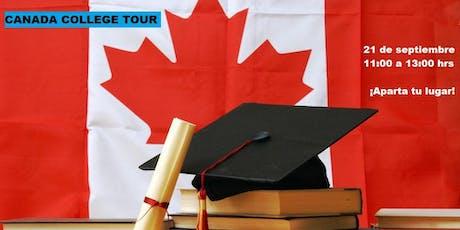 Canada Colleges Tour en Semana Santa boletos