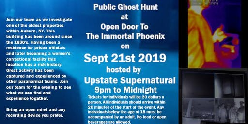 Public Ghost Hunt at Open Door To The Immortal Phoenix