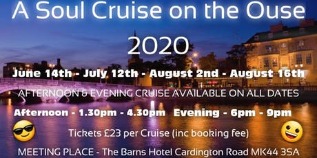 Soul Cruise On The Ouse Evening 12th July tickets