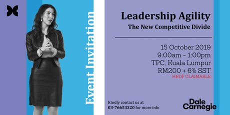 Leadership Agility: The New Competitive Divide tickets