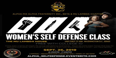 Alpha Self-defense for College Women tickets
