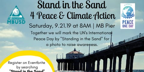 Stand in the Sand 4 Peace & Climate Change