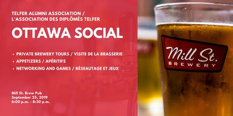 TAA Ottawa Social - Brewery Tour and Networking at Mill St. Brew Pub tickets