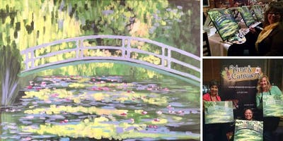 Monet's Bridge Painting Event at Mimi's Bistro Mission Valley